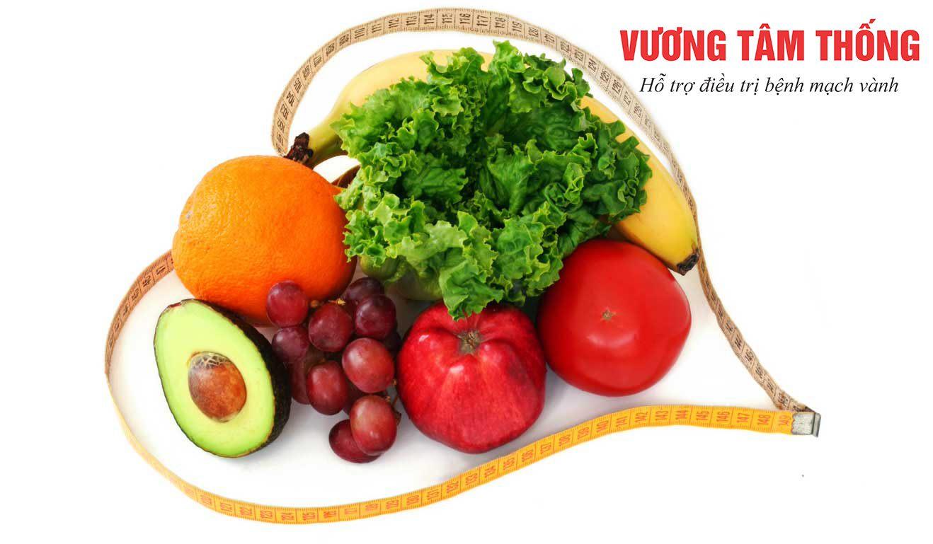 Chế độ ăn uống lành mạnh giúp làm giảm triệu chứng xơ vữa động mạch vành